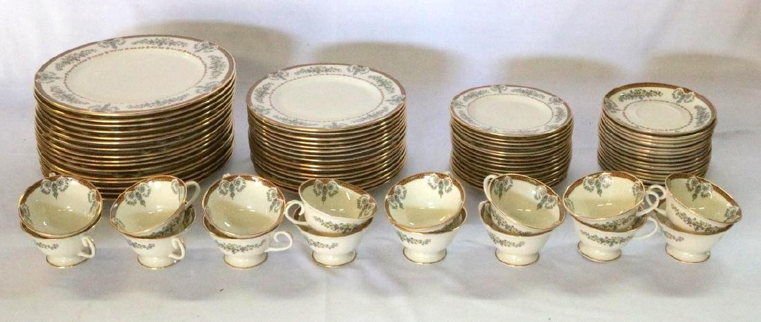"80 Pc. Gorham ""Grande Motif"" Bone China Set"