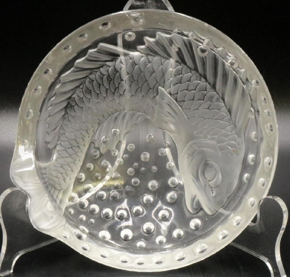 "Lalique ""Concarneau"" Crystal Dish"