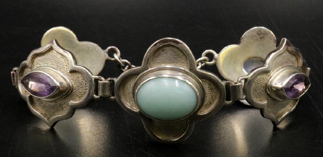 Nepal Sterling Semi-Precious Stone Bracelet