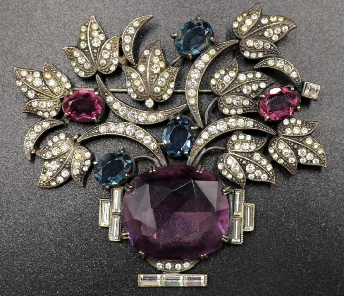 Vintage Art Deco Sterling Floral Brooch