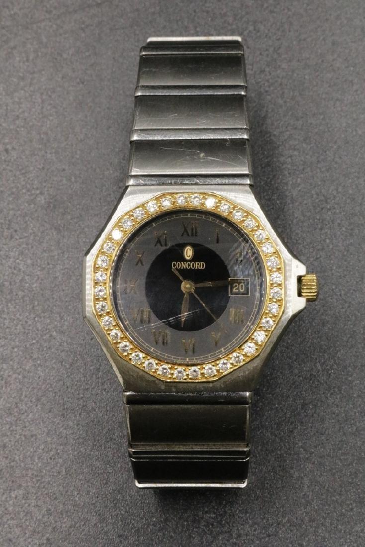 "Concord ""Mariner"" 18Kt & Stainless Steel Diamond Ladies"