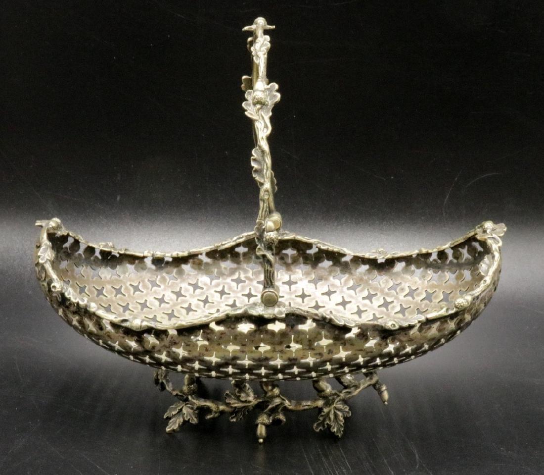 European 800 Silver Reticulated Basket