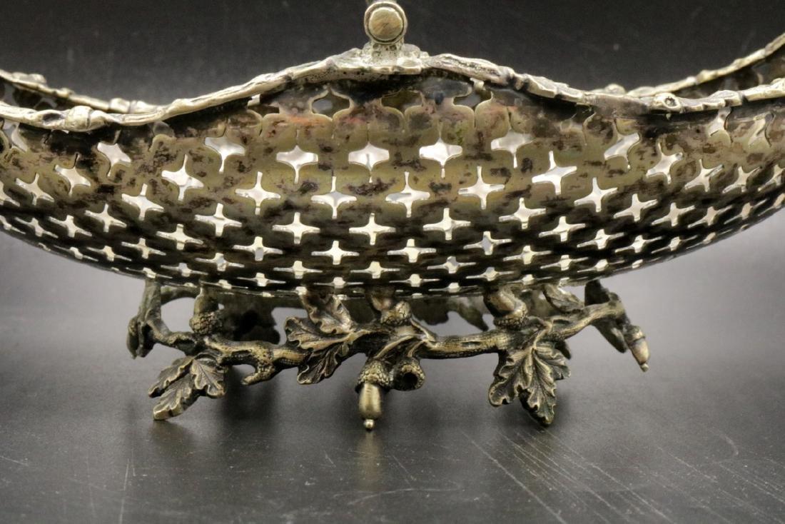 European 800 Silver Reticulated Basket - 2