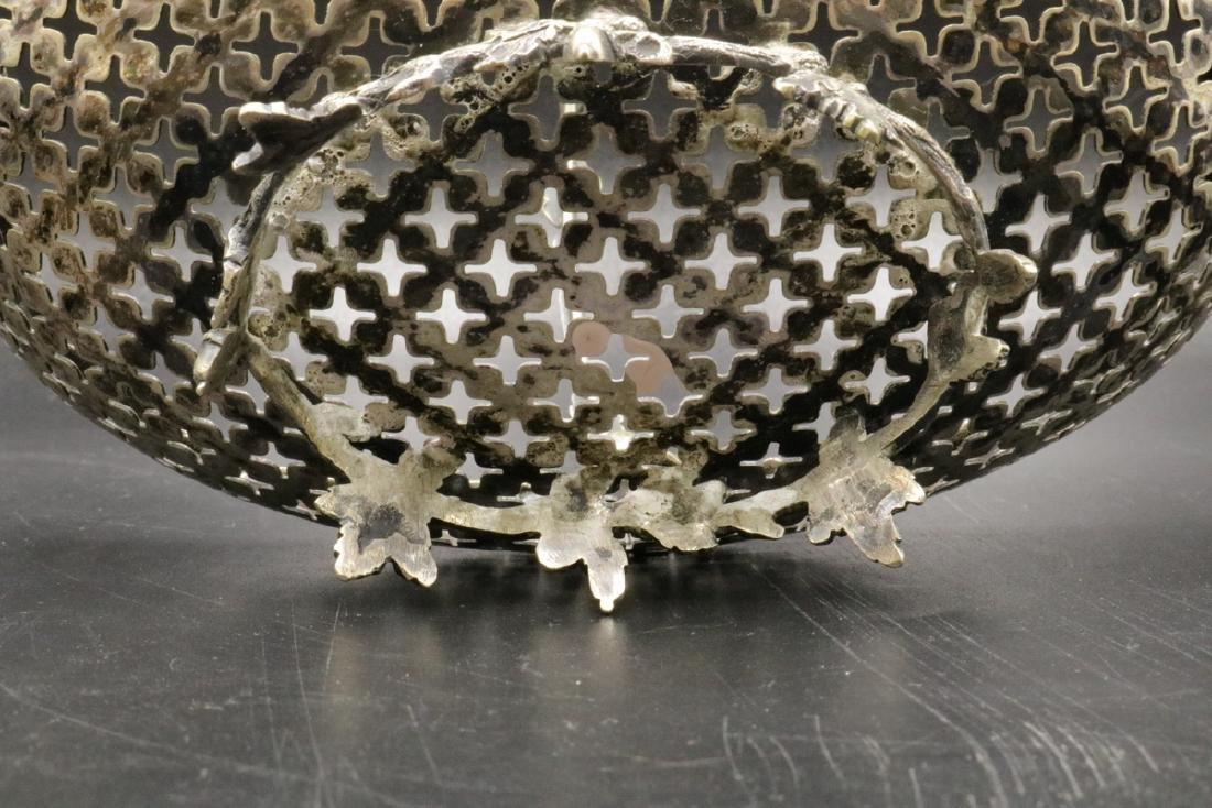 European 800 Silver Reticulated Basket - 4