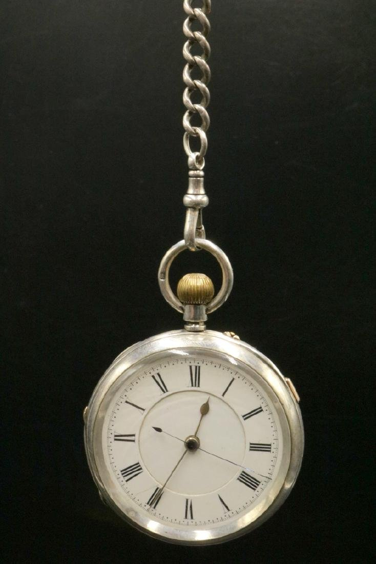 Late 19th C. Sterling Pocket Watch