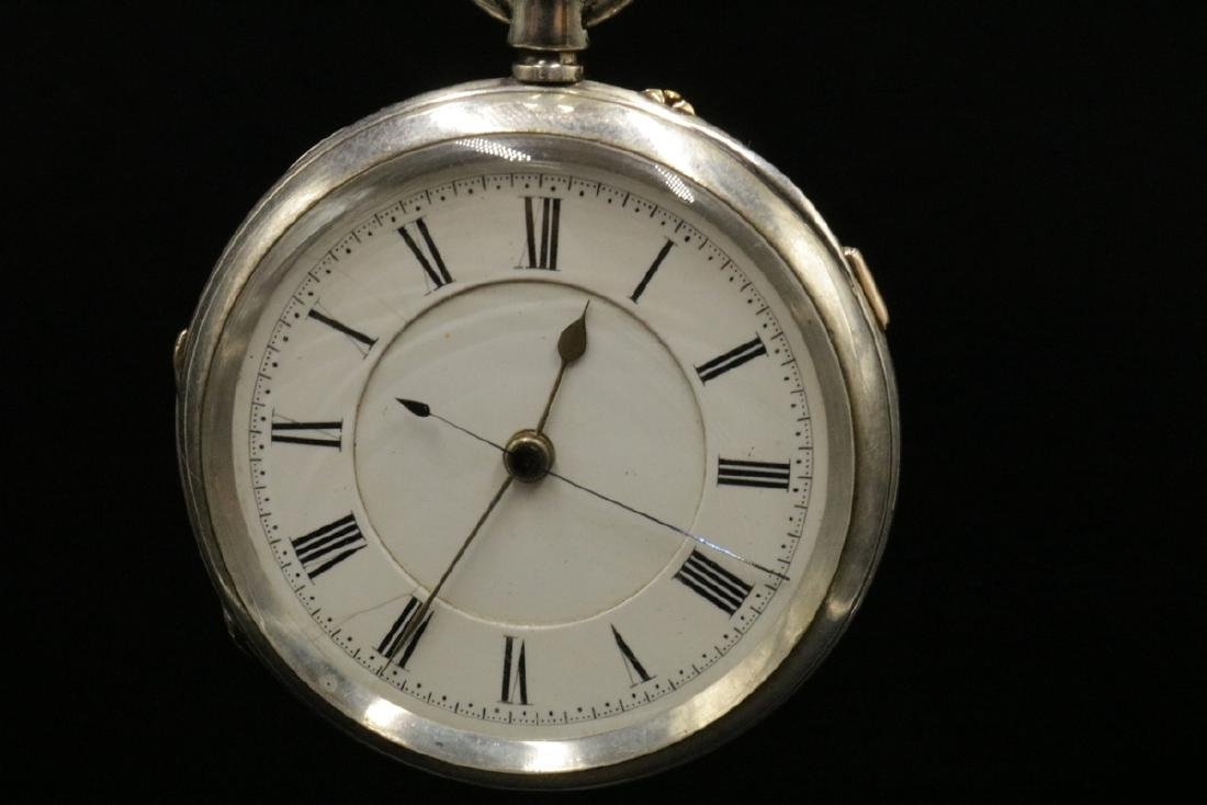 Late 19th C. Sterling Pocket Watch - 2