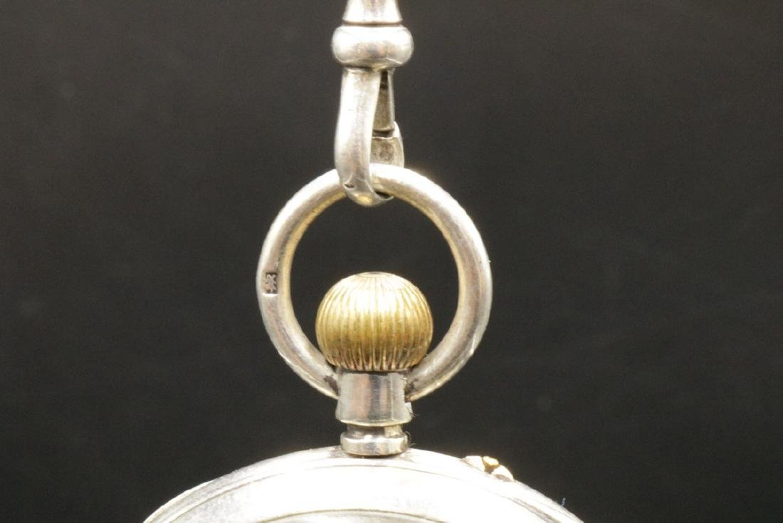 Late 19th C. Sterling Pocket Watch - 3