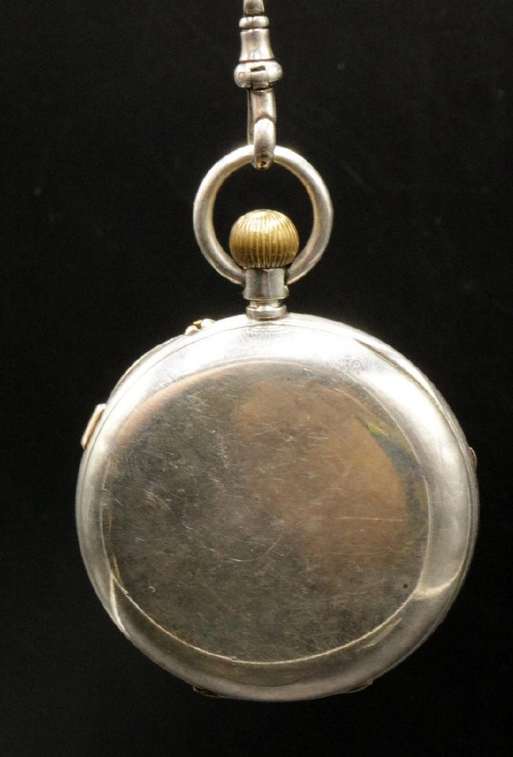 Late 19th C. Sterling Pocket Watch - 4
