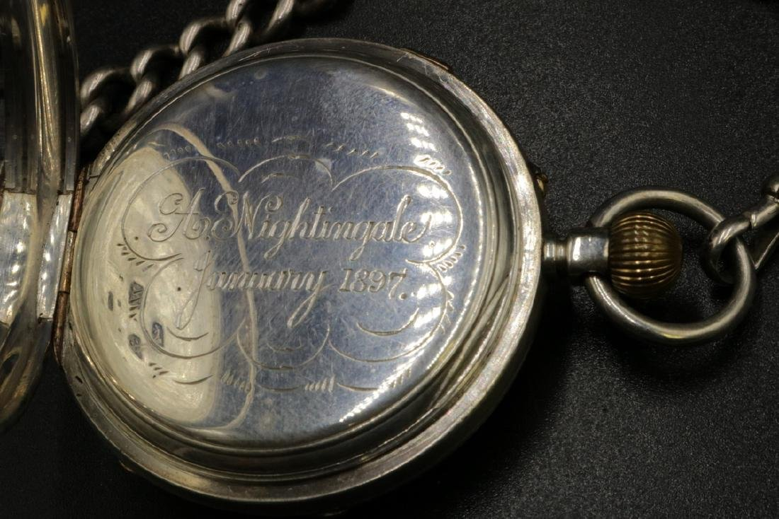 Late 19th C. Sterling Pocket Watch - 5