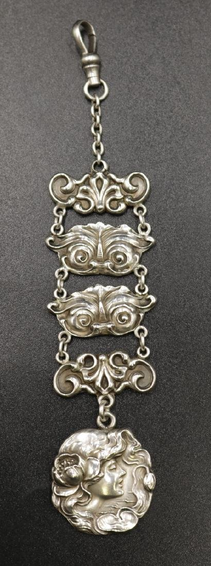 Art Nouveau Sterling Silver Watch Fob