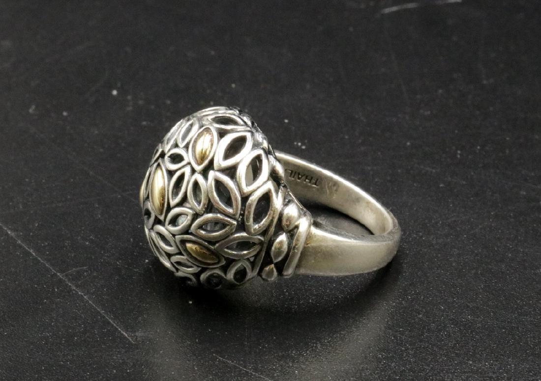 John Hardy Jai Thailand 14Kt & Sterling Ring - 2