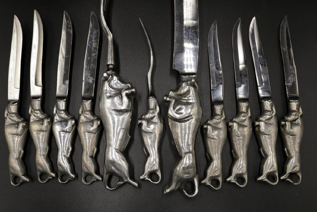 11 Pc. Vintage Bruce Fox Design Carving Set