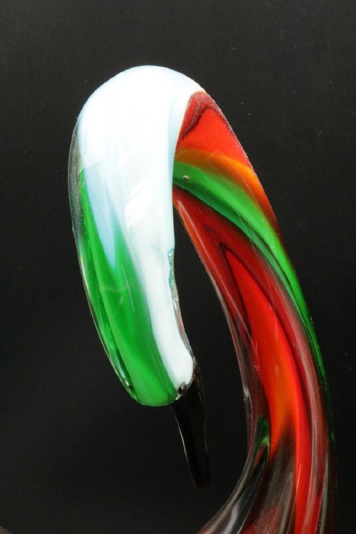 Pair of Italian Murano Art Glass Swans - 3