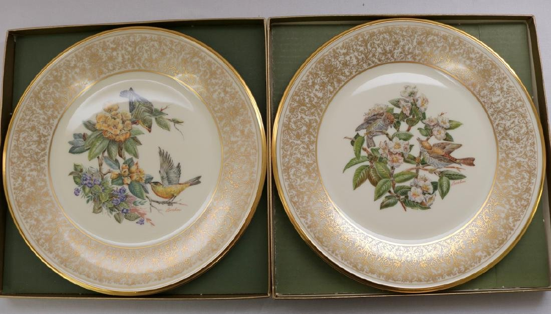 Pair of Lenox Boehm Bird Porcelain Plates