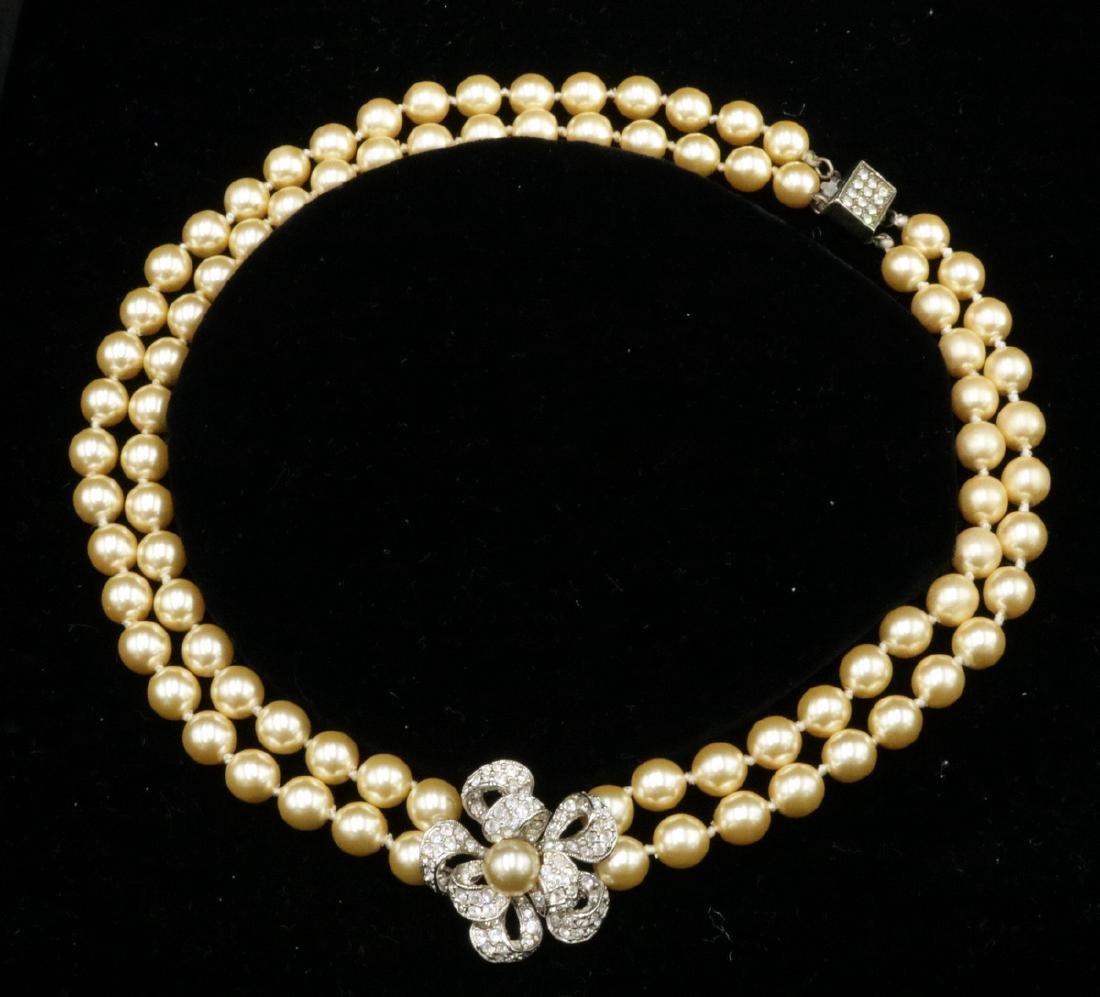 Franklin Mint Jackie-O Pearl Necklace