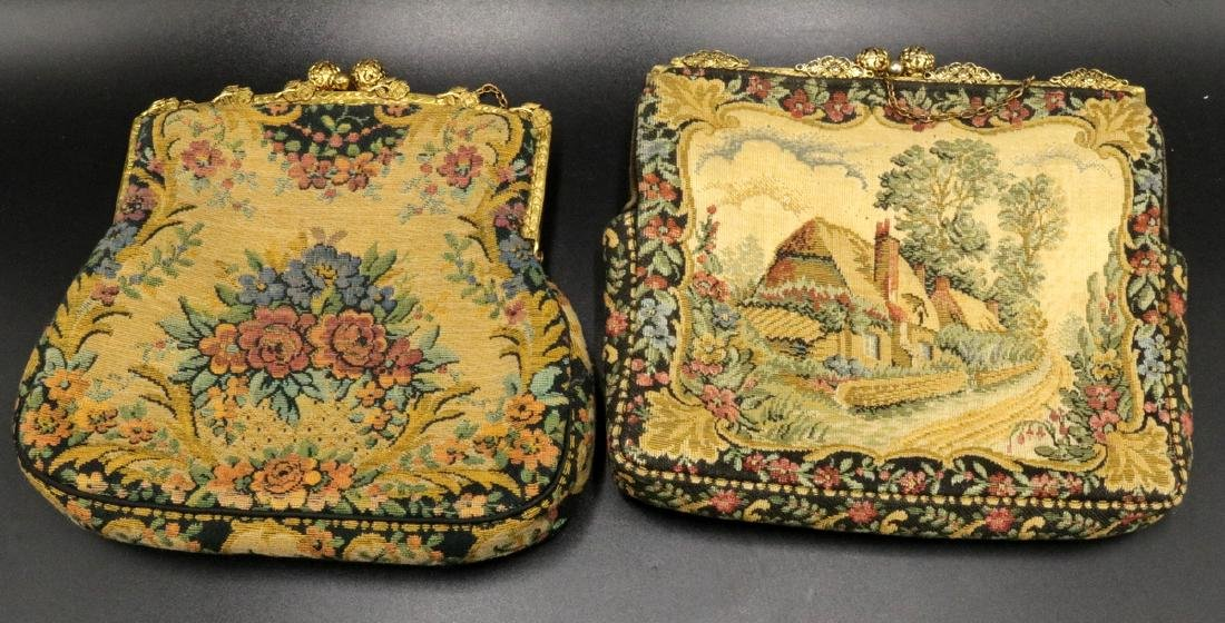 Antique French Tapestry Purses