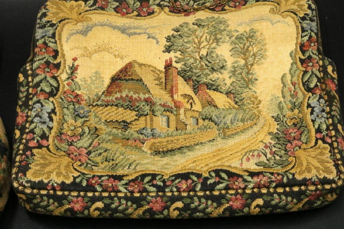 Antique French Tapestry Purses - 3