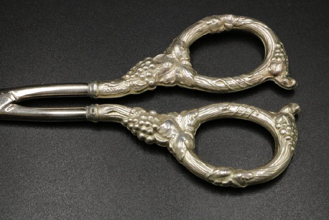 Sterling Silver Grape Shears - 2