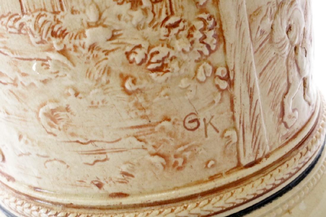 Signed GK Germany Porcelain Beerstein - 3