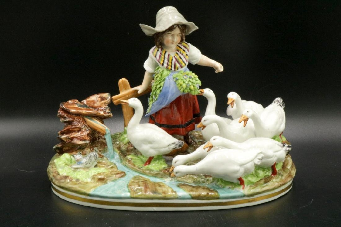 Capodimonte Hand Painted Porcelain Group