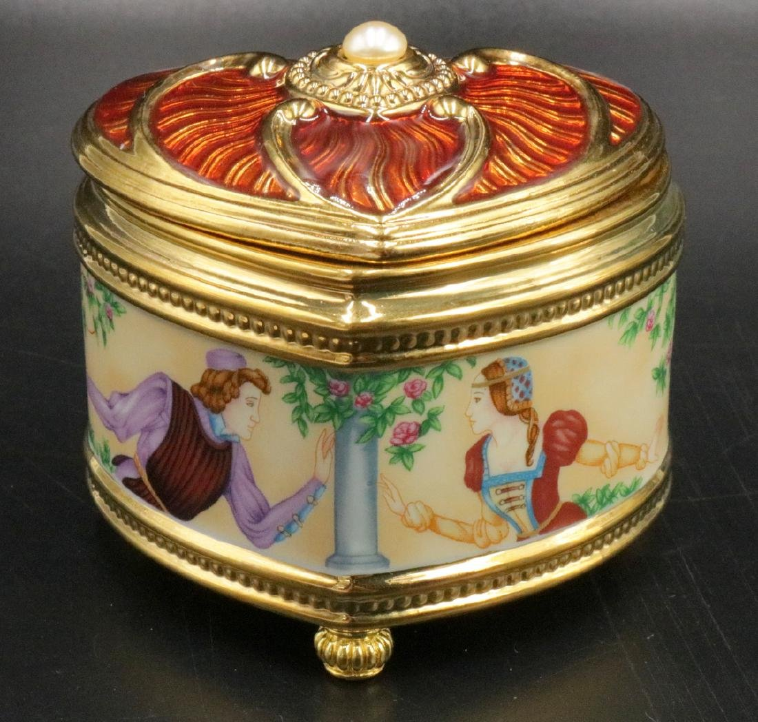 "House of Faberge, Franklin Mint ""Romeo & Juliet"" Box"