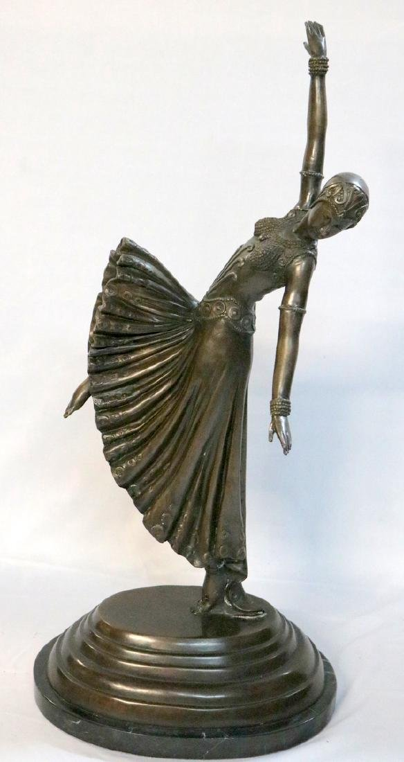Chiparus Style 20th C. Bronze Dancer