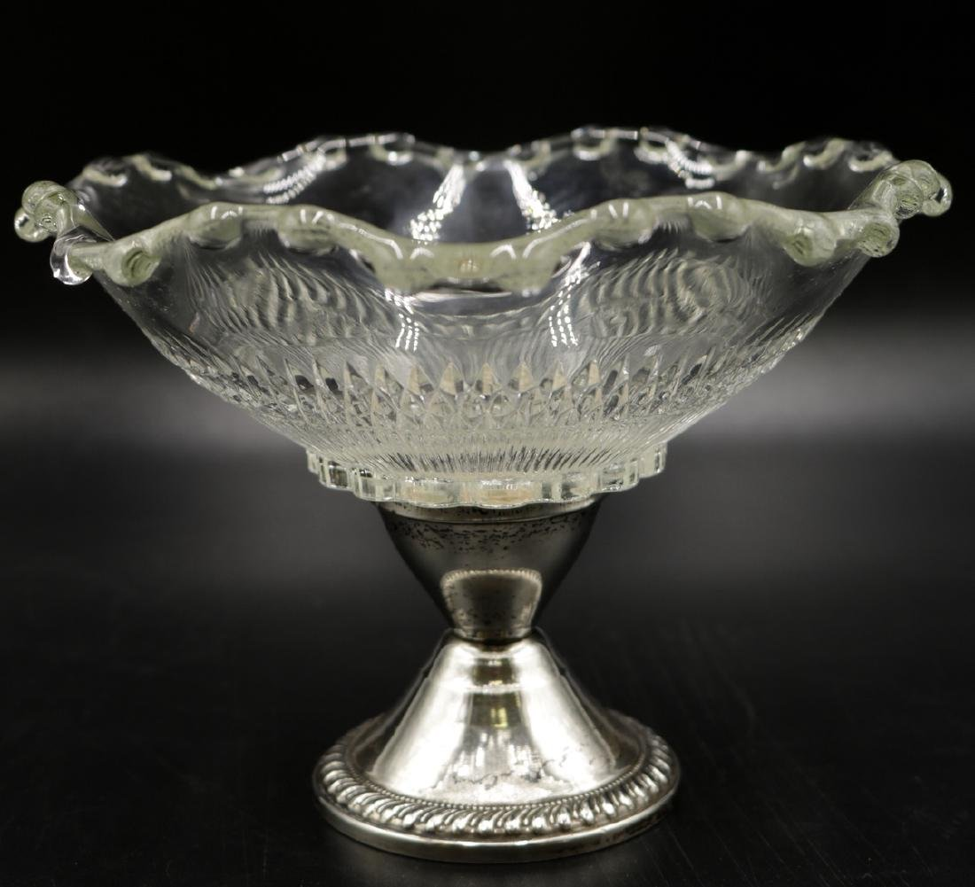 Duchin Creations Weighted Sterling & Glass Footed