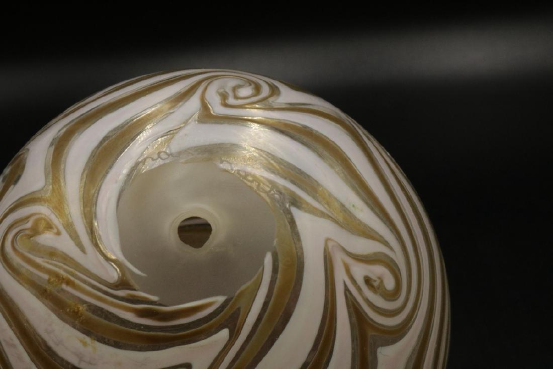 Vandermark Iridescent Art Glass Egg - 4
