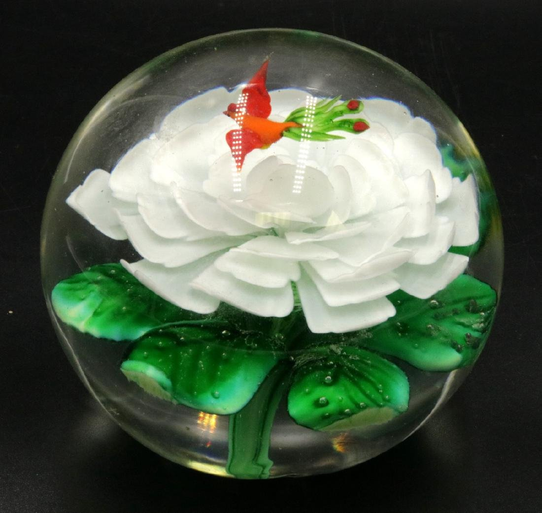 Large Art Glass Paperweight