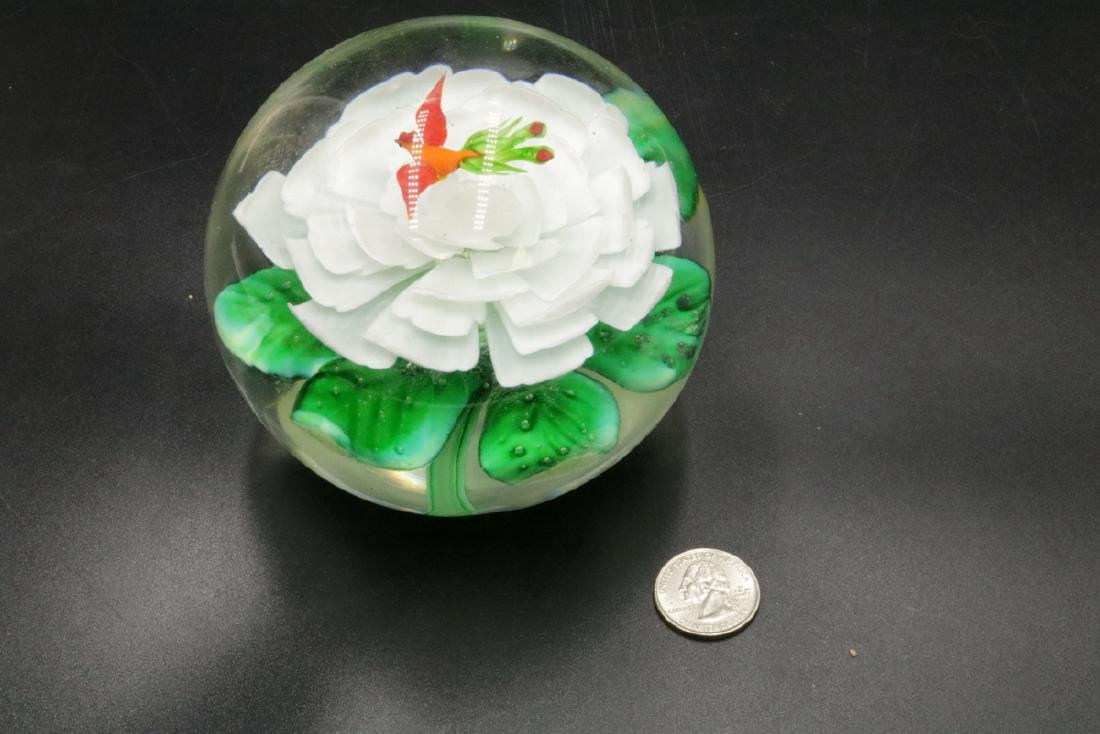 Large Art Glass Paperweight - 3