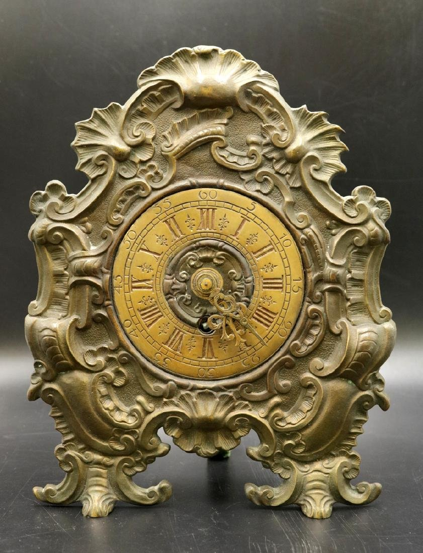 20th C. Bronze Mantle Clock