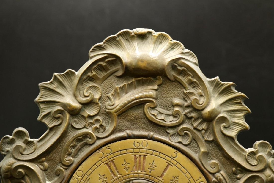 20th C. Bronze Mantle Clock - 3
