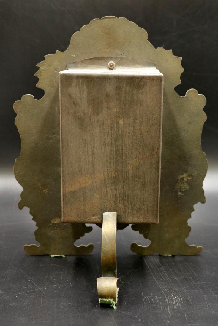 20th C. Bronze Mantle Clock - 4