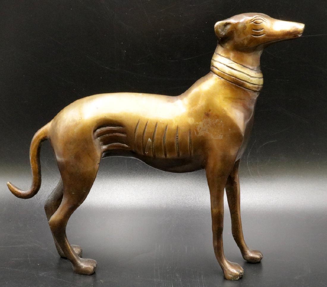 20th C. Greyhound Dog Bronze