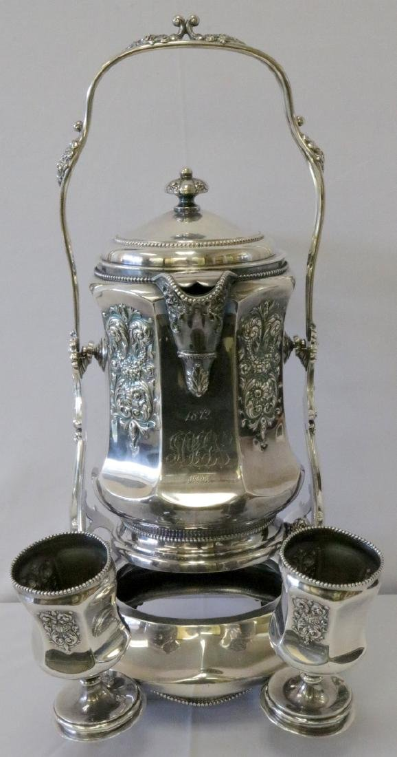 Antique Meriden B. Co. Silver Plated Ice Water Pitcher