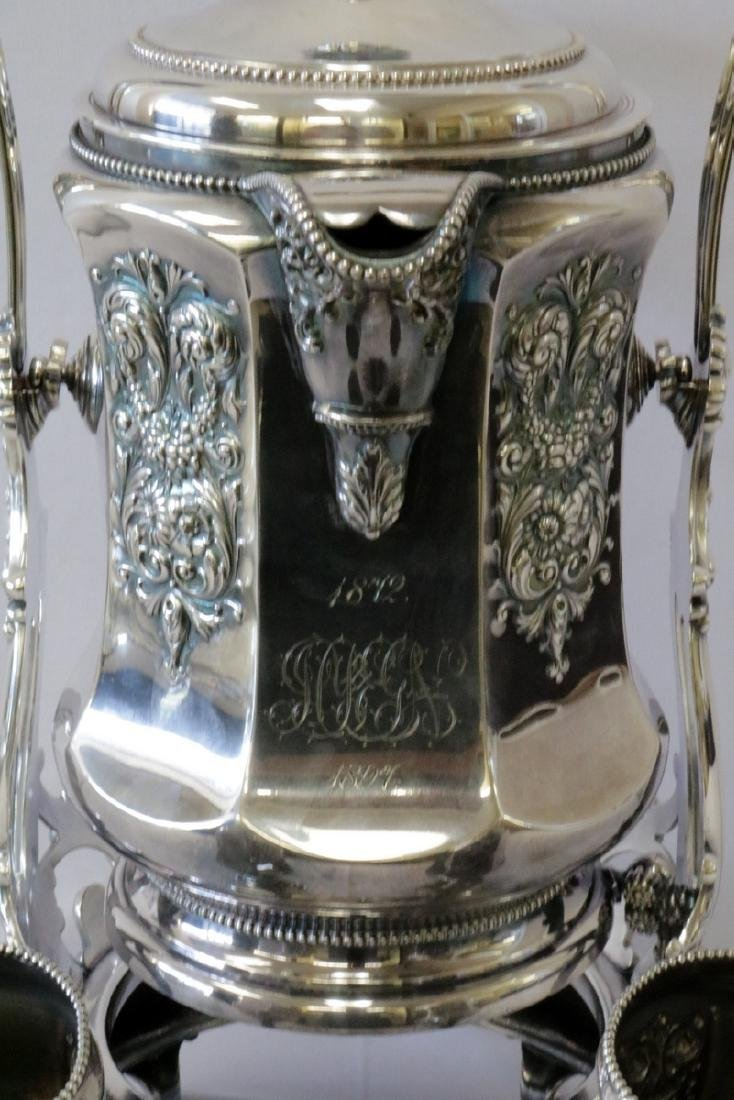 Antique Meriden B. Co. Silver Plated Ice Water Pitcher - 2