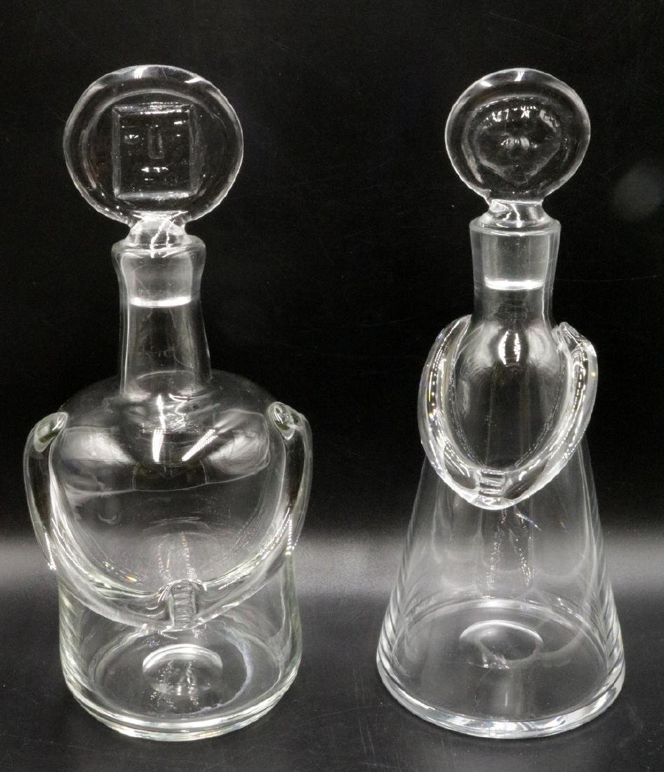 Kosta Boda Man & Woman Glass Decanters