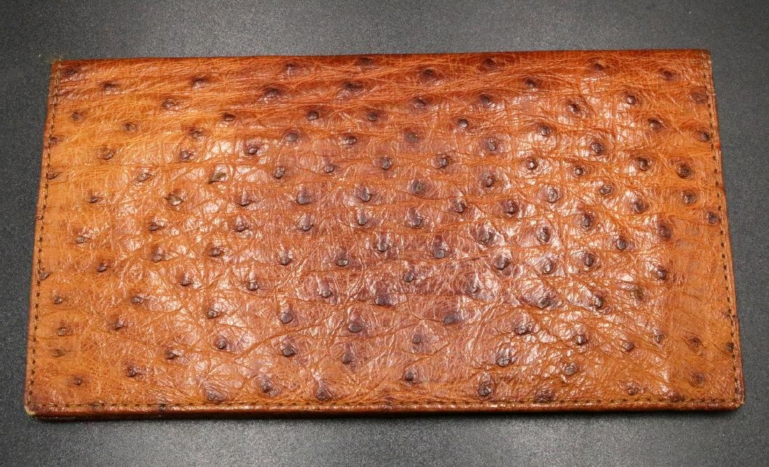 Genuine Ostrich Travel Wallet