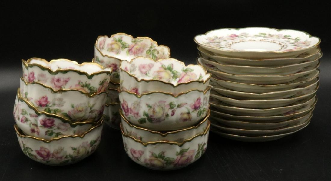 24 Pc. Haviland France Hand Painted Porcelain Dessert