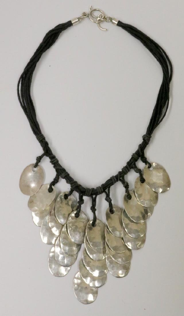 Mexican Sterling & 10-Strand Necklace