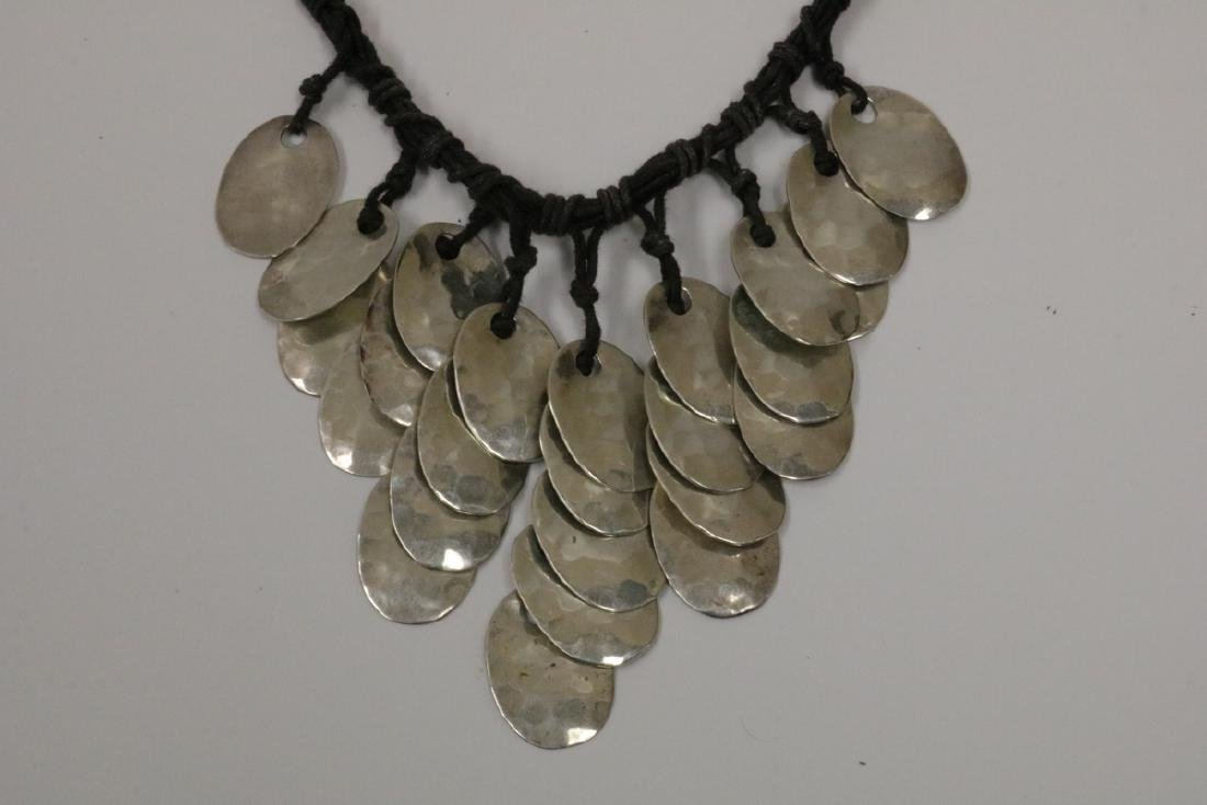 Mexican Sterling & 10-Strand Necklace - 2