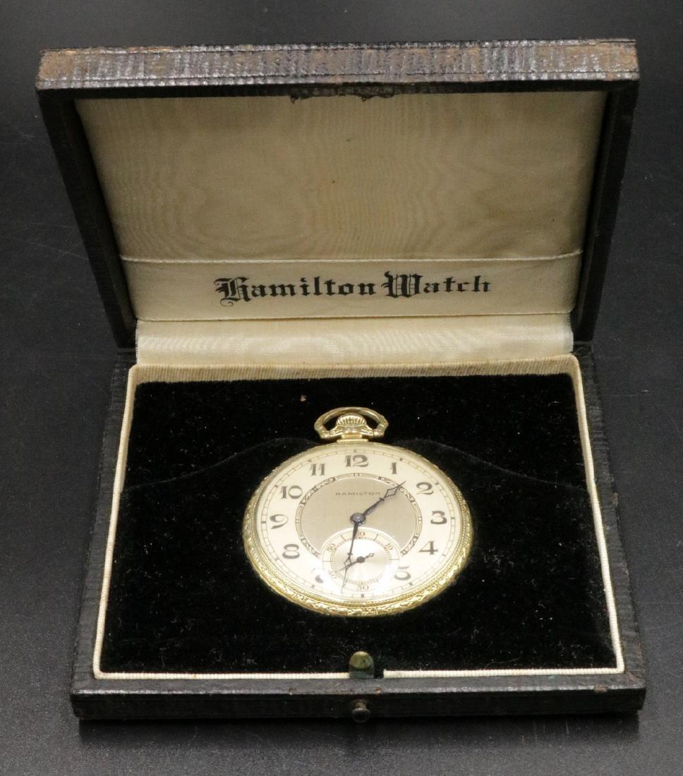 Hamilton 14Kt Gold Filled Pocket Watch