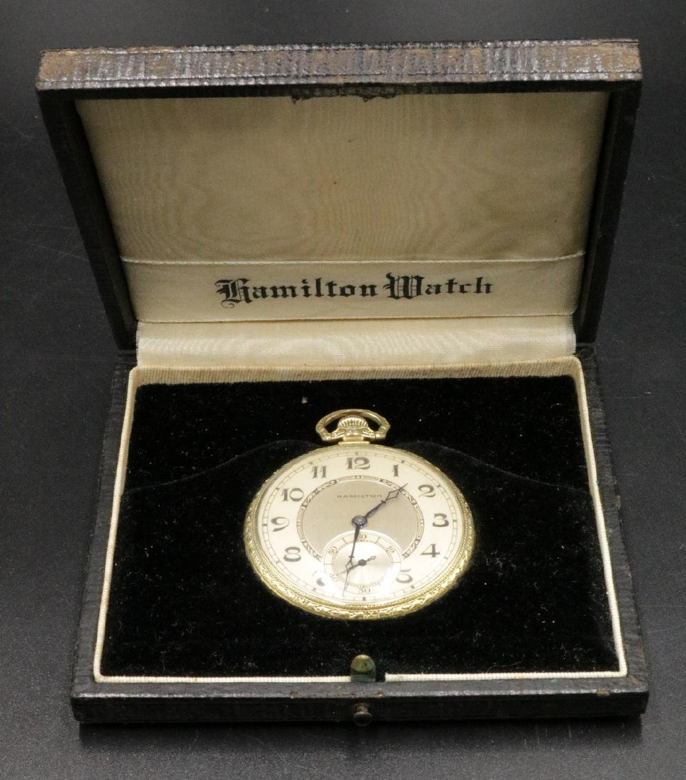 Hamilton 14Kt Gold Filled Pocket Watch