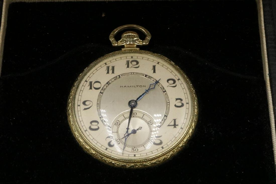 Hamilton 14Kt Gold Filled Pocket Watch - 3