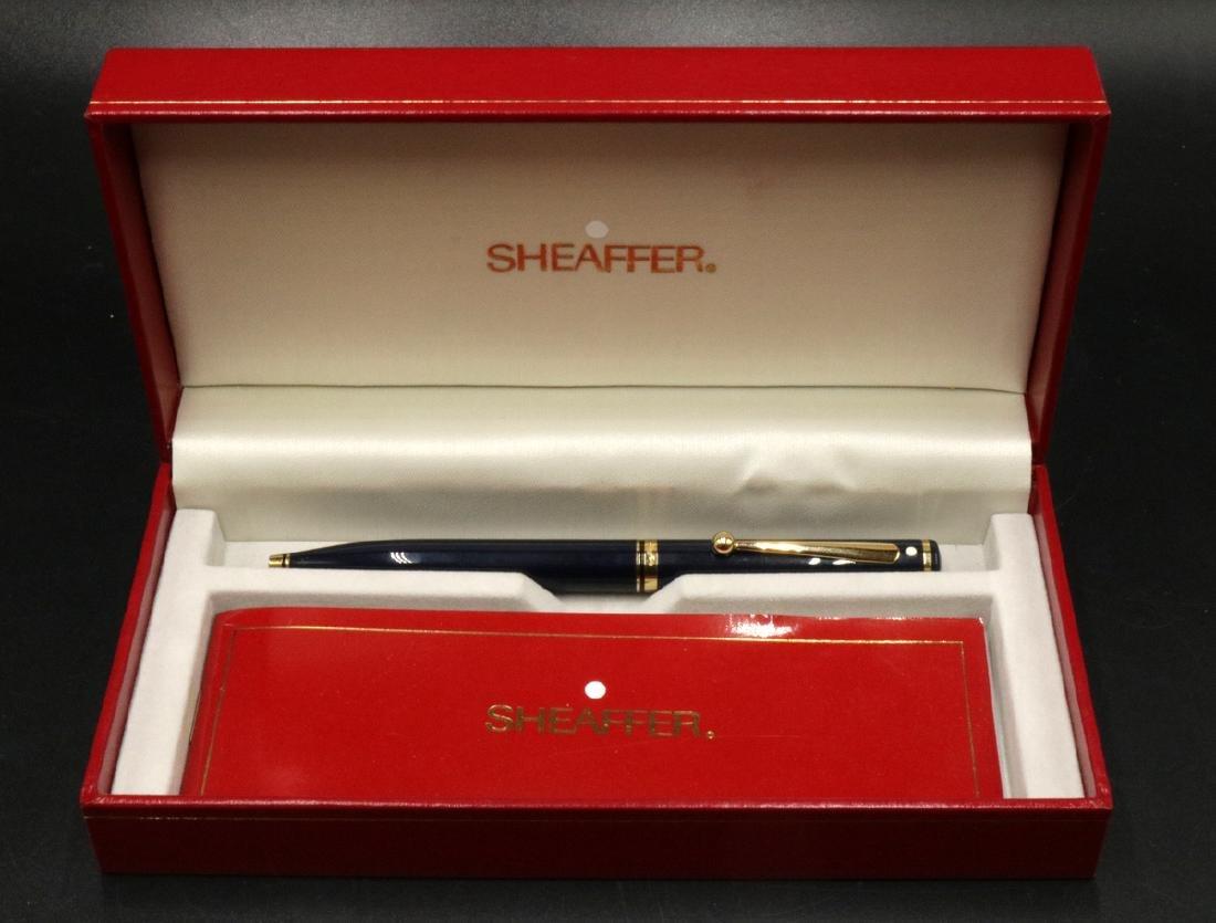 Sheaffer Dark Blue & Gold Ball Point Pen