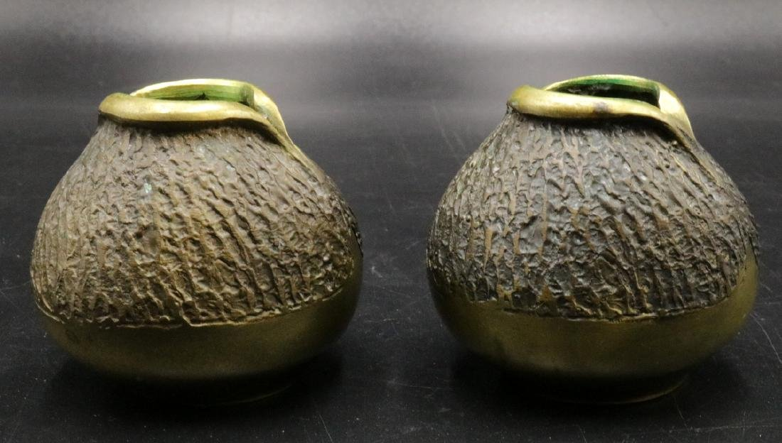 Signed Francisco Bronze Candle Holders