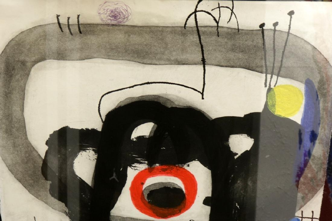 """Rare Joan Miro (1893-1983) """"L'Enrage"""" Aquatint - 3"""