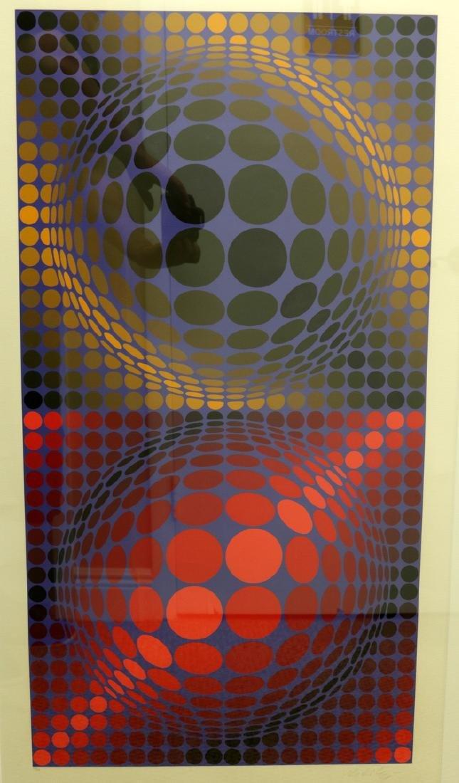 """Victor Vasarely (Hungarian 1906-1997) """"Meta"""" Serigraph"""