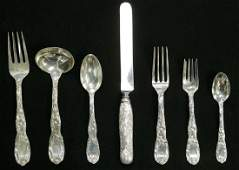 67 Pc Tiffany  Co Chrysanthemum Sterling Flatware
