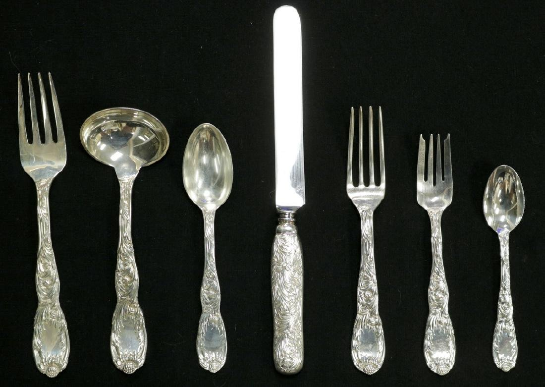 "67 Pc. Tiffany & Co. ""Chrysanthemum"" Sterling Flatware"
